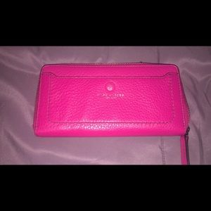 Marc Jacobs open face leather wallet- carnation